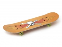 Скейтборд маленький 8-ми слойный, колеса PVC, крепление пластмасса, в ассорт. 60*15 см