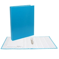 Папка картонная 2 кольца А4 35мм ламинированная, NEON, синяя (Erich Krause)