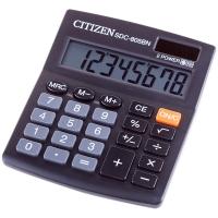 Калькулятор настольный 8 разрядов, двойное питание, 102*124*25 мм, черный