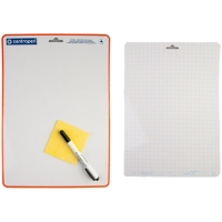 Доска для рисования с маркером двухсторонняя, А4