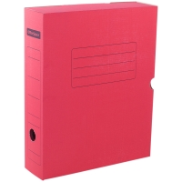 Короб архивный с клапаном OfficeSpace, микрогофрокартон, 75мм, красный, до 700л