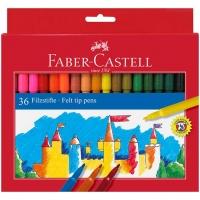 Фломастеры 36цв. Faber-Castell смываемые,к/к,е/подвес