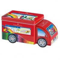 "Набор д/рисования Faber-Castell ""Connector Truck""  (33флом.+10клипс) металл.коробка"