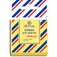 Кл.бумага д/заметок 76*76мм ATTOMEX 100л. жёлтая