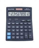 Калькулятор наст. SKAINER  чёрный,12разр.,2пит.,2пам.
