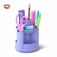"""Набор настольный EK Mini Desk """"Pastel  вращающийся,фиолет"""