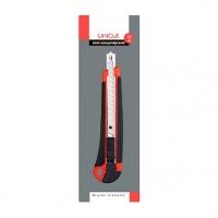 Нож канцелярский 9мм BV Unicut  противоск.резин.покрытие,,пластик.корп.