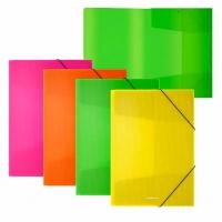 """Папка на резинке А4 EK """"Diagonal Neon"""" асс."""