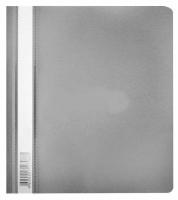 Скоросшиватель пластиковый А5 Бюрокарт Люкс  (PSL20A5) серый