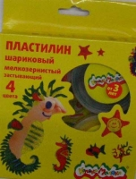 Пластилин шар.  4цв.*33гр. Каляка-Маляка   мелкозерн., к/к