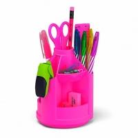 "Набор настольный EK ""Mini Desk. Neon Solid""  розовый,вращ."