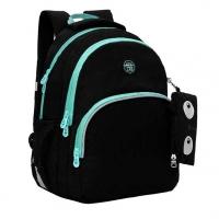 Рюкзак школьный Гризли  чёрный