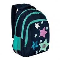 Рюкзак школьный Гризли RG-162-2 тёмно-синий