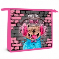 "Папка д/тетрадей А5 ОНИКС ПТ-73 ""Music dog"" (59956) на молн."