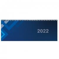 Планинг датированный 2022 (285х112мм), STAFF, гребень, картонная обложка, 60л, Однотонный,