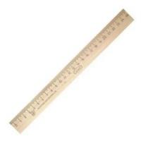Линейка 025см деревянная Можга, штрихкод (12/50/1300)
