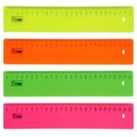 Линейка 025см пластиковая Стамм, Neon ( 4цв.) (12/440)