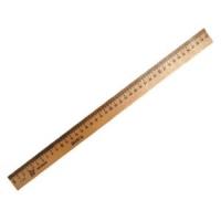 Линейка 040см деревянная Можга, штрихкодом (12/50/900)