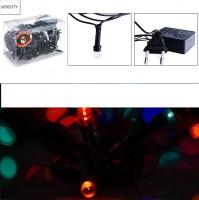 Электрогирлянда 10м, 200 ламп, цветная