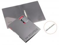 Папка пластиковая 2 кольца А4 24мм, EK Megapolis серая