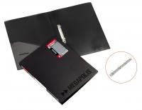 Папка пластиковая 2 кольца А4 24мм, EK Megapolis черная (Erich Krause)