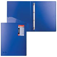 Папка пластиковая 4 кольца А4 24мм, EK Megapolis синяя (Erich Krause)