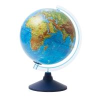 Глобус физико-политический Globen, 25см, с подсветкой от батареек на круглой подставке