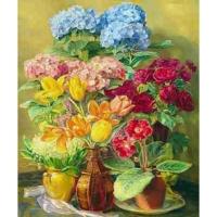 Набор ДТ Алмазная мозаика Прекрасный букет из гортензий,тюльпанов и роз 30*40см