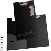 Планшет А4,  крышка, пластик, MEGAPOLIS, карман, черная (Erich Krause)