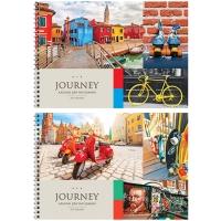 """Альбом для рисования 40л., А4, на гребне ArtSpace """"Путешествия. Collage of travel"""""""