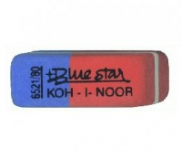 Ластик K-i-N Blue Star комбинированный, для грифеля и чернил, из каучука, размер 40х14х8мм