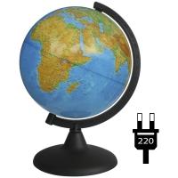 Глобус физический 21см с подсветкой на круглой подставке
