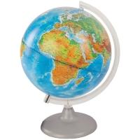 Глобус физико-политический 25см с подсветкой на круглой подставке