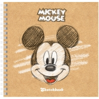 "Скетчбук-тетрадь 80л 170*170мм на гребне Hatber ""Disney. Микки Маус"", 120г/м2, с тверд. обложкой"