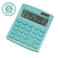 Калькулятор настольный  , 12 разр., двойное питание, 127*105*21мм, бирюзовый