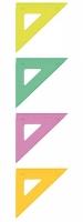 Треугольник СТАММ 45гр*12см  цв. прозр.