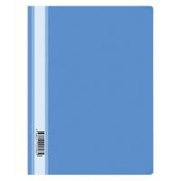 Папка-скоросшиватель пластик. , А4, 120мкм, голубая с прозр. верхом