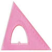 Транспортир в треугольнике с основанием 30*16см,флю. прозр.4цв. (12/320)
