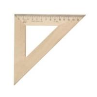 Треугольник 45гр., 16см деревяный (12/50)
