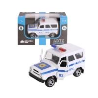 """Машинка металлическая """"Полиция"""", 1:50, цвет белый, инерция, в/к 12*7*5,5 см"""
