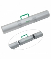 Тубус СТАММ для чертежей D100мм,L650мм с ручкой 3-х секционный,серый