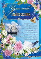 Плакат А2 Школьный  420*594   Удачи тебе,выпускник