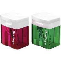 Точилка пластиковая, 1 отверстие, контейнер, ассорти(Berlingo)