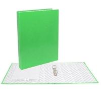Папка картонная 2 кольца А4 35мм ламинированная, NEON, зеленая (Erich Krause)