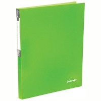 "Папка на 4-х кольцах Berlingo ""Neon"", 25мм, 700мкм, неоновая зеленая"
