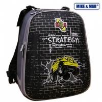 Рюкзак школьный Mike&Mar (Майк Мар) Стратегия черный