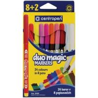 """Фломастеры меняющие цвет Centropen """"Duo Magic"""", 08цв+2, 10шт., 24 цв., картон, европодвес"""