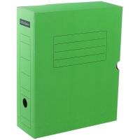 Короб архивный с клапаном , микрогофрокартон, 100мм, зеленый, до 900л.