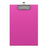 "Планшет с зажимом Erich Krause ""Neon"" А5, розовый"