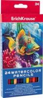 Карандаши аквар. 24цв. EK Морской мир 32882